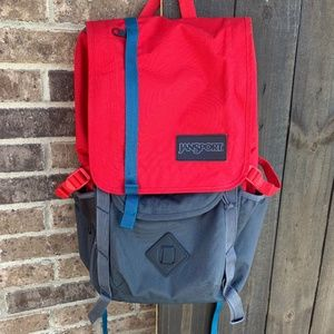 Jansport Forge Grey/Red Tape Hatchet Backpack